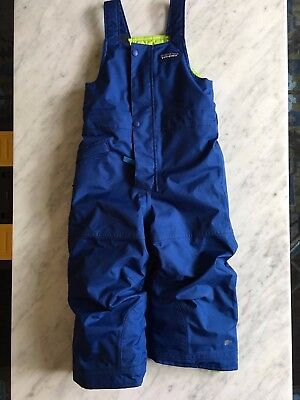 Patagonia Toddler Snow Pile Bibs Blue Size 3