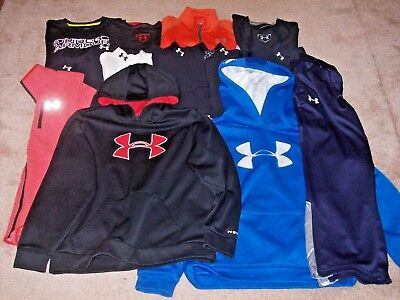 Under Armour Boys Lot Of 13 Long Sleeve Shirts,Hoodies & Pants Size Youth L