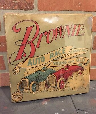1920's Tin Game with Box Brownie Automobile Auto Race