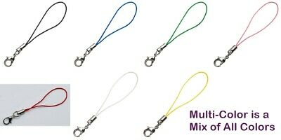 Cell Phone Straps (Lariat Strings) Assorted Colors w/ Ring End + Lobster Clasp