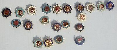 Vintage Lot of 21 White Star Lines Figural Metal Captains Wheel Pins-Many Ships!