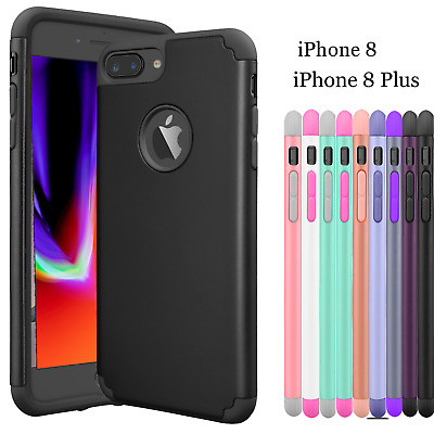 For iPhone 8 / 8 Plus Phone Case Hybrid Slim Shockproof Armor Hard Bumper Cover
