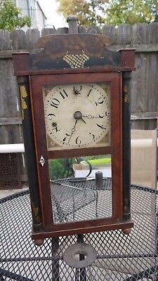 early american wooden works miniature time & alarm shelf clock project