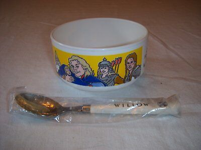 Willow Movie Quaker Oats Bowl and Spoon Mail Away Premium Unused Vintage 1988