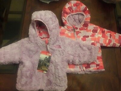 BNWT - The North Face Baby Girl Reversible Mossbud Swirl Jacket $80
