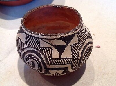 Signed Native American Pottery Bowl Vintage