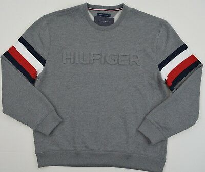 NWT Men's Tommy Hilfiger Crew Neck Pullover Sweater Grey XL
