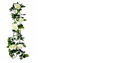 Artificial Plant Flower Rose Garland for Weddings and events 160cm 1.6 metres