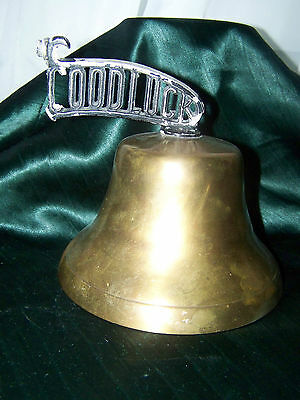 Antique Bell Says Good Luck Great Sound   Ship Or Door Bell FABULOUS