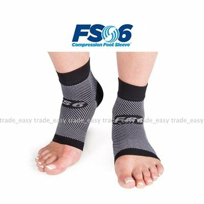 Pair Compression Foot Sleeves FS6 Supports Circulation Orthosleeve Comfort Feet