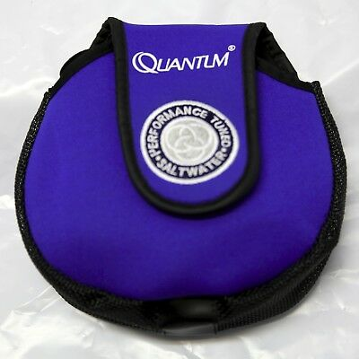 Reel Bag NEOPRENE/MESH for 2500-4000 Size Reel, Quantum BLUE/BLACK 17x16cm