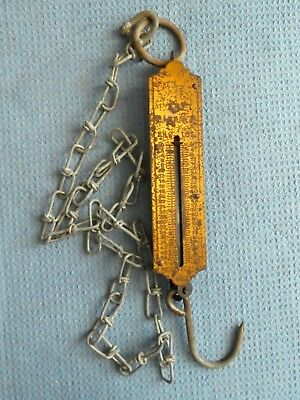Vintage weigh scale weight weight Pocket Balance hook chain Industrial Germany