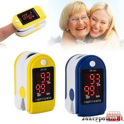 Finger Fingertip Blood Oxygen Large Monitor Oximeter Meter SPO2 OLED Pulse Heart