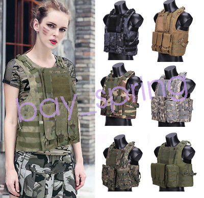 USMC Airsoft Tactical Military Molle Combat Assault Plate Carrier Vest