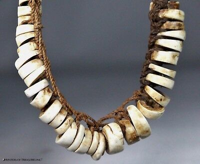 Antique Old Papua New Guinea Oceanic Shell Beads Necklace