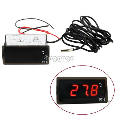 220V -50 ℃ ~ + 110 ℃ Digital Thermometer Temperature Meter Aquarium +Sensor New