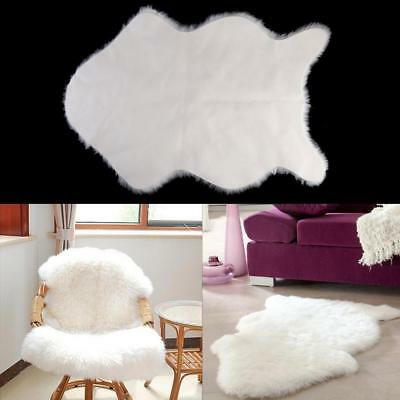 Super Soft Faux Sheepskin Rugs Chair Cover Pad Washable Warm Seat Pad Area Rug