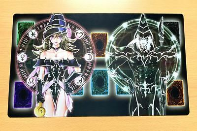 F110# Free Mat Bag Dark Magician Dark Magician Girl Yugioh TCG Playmat Zones