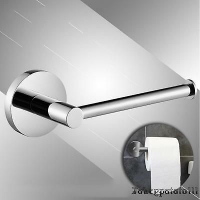 Toilet Roll Paper Holder in Chrome | Round & Wall Mounted for Bathroom Cloakroom