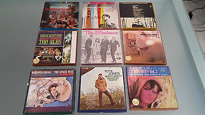 """9 Pre Recorded 7"""" Tapes. Fresh Condition. Great Boxes. Look At This Lot !"""