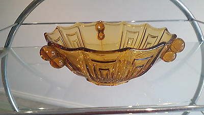 ART DECO FRUIT BOWL IN PERFECT CONDITION. 22cm ACROSS X 8cm HIGH. ALL GOOD !