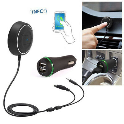 Bluetooth4.0 Handsfree Car Kit Bluetooth Music Receiver NFC Fast Pairing AUX USB