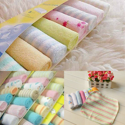 8Pcs Soft Bath Towel Washcloth Infant Newborn Baby Feeding Wipe Cloth Household