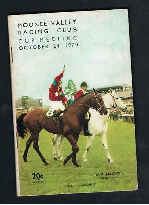 1970 Moonee Valley Racing Club Racebook. W.s.cox Plate/moonee Valley Cup.