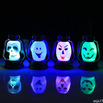 Skeleton LED Lantern Night Light Lamp Halloween Decorate Props Horror Amazing