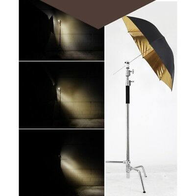 "33"" Gold Light Studio Flash Photography Lighting Reflective Umbrella"