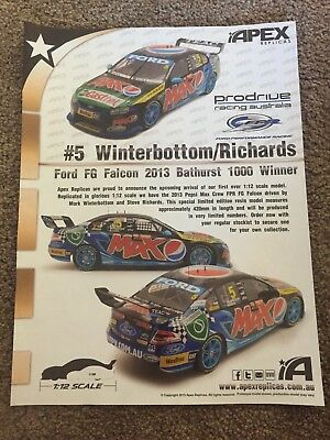 Prodrive Fpr Ford Falcon 2013 Bathurst Winner Advert-Apex Replica's-Winterbottom