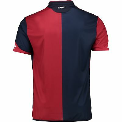 Genoa Football Home Shirt 2017 18 Mens Lotto