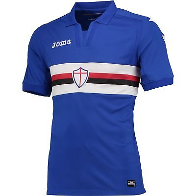Sampdoria Football Home Shirt 2017 18 Mens Joma