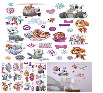 Paw Patrol Girl Wall Stickers Skye Everest Decals Puppies Dogs Pups Decor Pupp