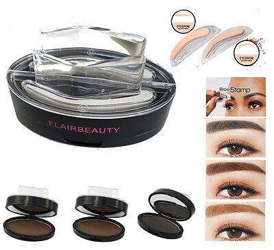 Eyebrow Stamp Powder + 2 Sets Brow Stamps each for Brunettes/Blonde Brows