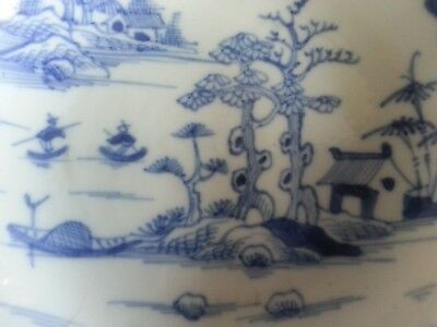 18th/19th Century Chinese Export Blue and White hand decorated saucer dish
