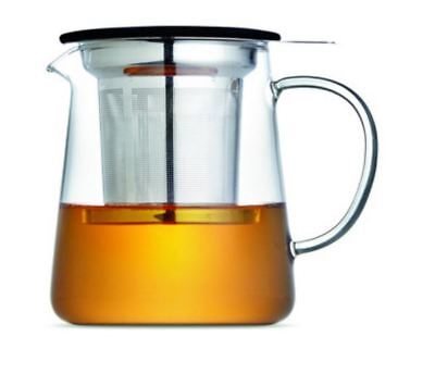 Tea Maker Glass Tea Pot Clear Glass Teapot with Stainless Infuser Filter AUBrand