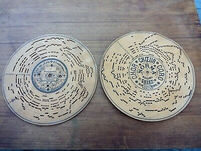 Antique Music Machine Cardboard Discs