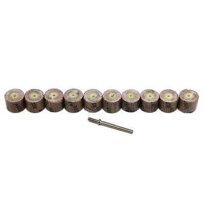 338x Sanding Bands Drums Sleeves 80-320 Mix Grits For Dremel Rotary Tool FF