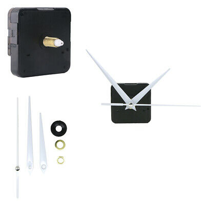 14mm Long Spindle Mute Sweep Quartz Clock Movement Mechanism White Metal Hands