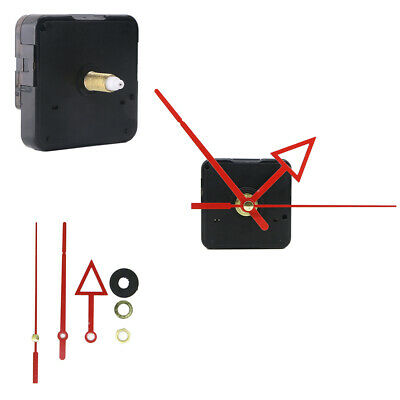 14mm Long Spindle Mute Sweep Quartz Clock Movement Mechanism Red Metal Hands
