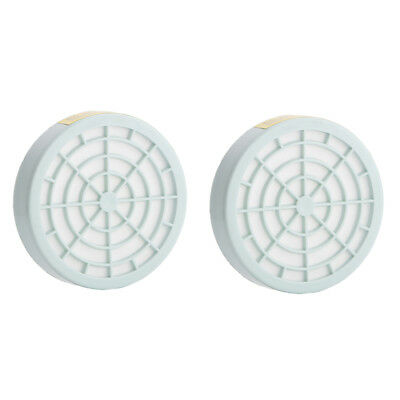 2pcs Gas Mask Respirator Anti Dust Filter Box Replacement Cartridges Accessories