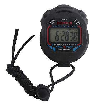 Handheld Digital LCD Chronograph Sports Counter Stopwatch Timer Alarm Stop Watch