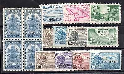 Mexico Correos Air Mail mint MH collection WS6048
