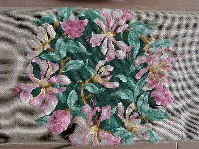 Ehrman Royal School Of Needlework Honeysuckle Tapestry Part Completed Kit Frame