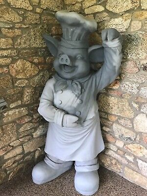 BBQ PIG Statue Outdoor Model sanded primed and ready-to-paint