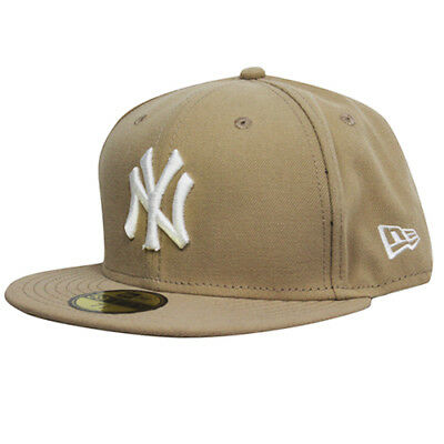New Era 59Fifty MLB League Basic New York Yankees Beige Fitted Hat 10149819 UW