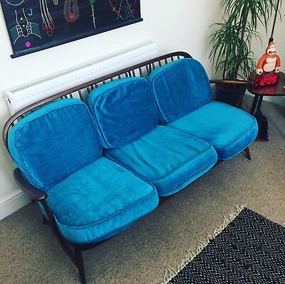 Ercol Windsor 3 Seater Sofa - Vintage Retro