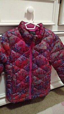 The North Face Girls XS/TP (6) Pink, Purple Silver Jacket Winter Coat