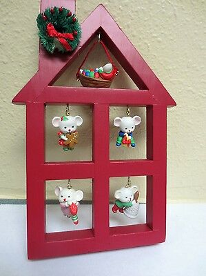 Avon A Merry Little Christmas Display Ornament Stand With 5 Ornaments